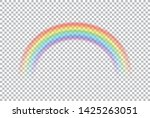colored transparent rainbow.... | Shutterstock .eps vector #1425263051