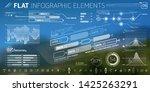 corporate infographic vector... | Shutterstock .eps vector #1425263291