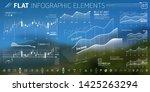 corporate infographic vector... | Shutterstock .eps vector #1425263294