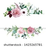 dusty pink rose  pale flowers ... | Shutterstock .eps vector #1425265781