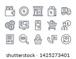 ecommerce related line icon set....