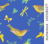 seamless pattern with birds ... | Shutterstock . vector #1425282377