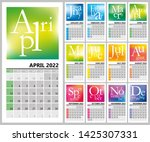 creative calendar 2022 with... | Shutterstock .eps vector #1425307331