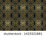 raster design with golden... | Shutterstock . vector #1425321881