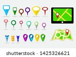 set of maps pin  locating... | Shutterstock .eps vector #1425326621