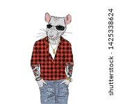 Humanized Rat Man Hipster With...