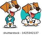 cute dog mascot series. dog... | Shutterstock .eps vector #1425342137