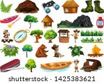 set of  camping object... | Shutterstock .eps vector #1425383621