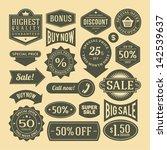 vector vintage sale label set... | Shutterstock .eps vector #142539637