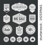 vector vintage sale label set... | Shutterstock .eps vector #142539661