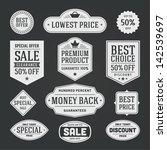 vector vintage sale label set... | Shutterstock .eps vector #142539697