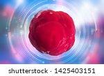 living cell. cellular research...   Shutterstock . vector #1425403151