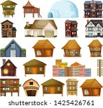 set of different house... | Shutterstock .eps vector #1425426761