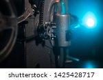 old vintage movie projector on...   Shutterstock . vector #1425428717