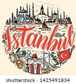 istanbul sketch illustration...   Shutterstock .eps vector #1425491834