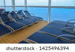 empty sunbed lounge chairs for... | Shutterstock . vector #1425496394