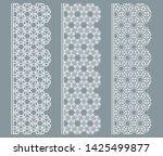 vector set of line borders with ... | Shutterstock .eps vector #1425499877