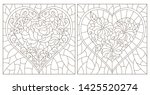 set of contour illustrations of ... | Shutterstock .eps vector #1425520274