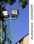 spotlights in the park. | Shutterstock . vector #142552099