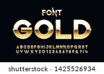 vector set of elite gold... | Shutterstock .eps vector #1425526934