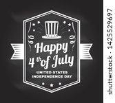 vintage 4th of july design in... | Shutterstock .eps vector #1425529697