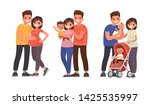 set of stages of family... | Shutterstock .eps vector #1425535997