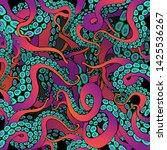 octopus frame design  creative... | Shutterstock .eps vector #1425536267