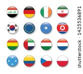 world flag icon set in circle   ... | Shutterstock .eps vector #1425536891