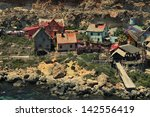 Small photo of beautiful view of the village of Popeye