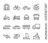 vector icons set of...   Shutterstock .eps vector #1425567287