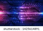 vector abstract futuristic... | Shutterstock .eps vector #1425614891