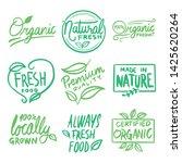 vegan set collection of label... | Shutterstock .eps vector #1425620264