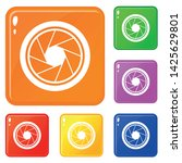 photographic objective icons... | Shutterstock .eps vector #1425629801