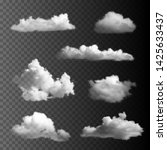 big set of transparent clouds. | Shutterstock .eps vector #1425633437