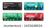 set of concert tickets template.... | Shutterstock .eps vector #1425638024