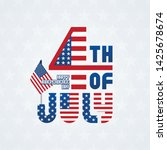 fourth of july typographic...   Shutterstock .eps vector #1425678674