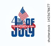 fourth of july typographic...   Shutterstock .eps vector #1425678677