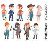 kids of various professions set ... | Shutterstock .eps vector #1425681014