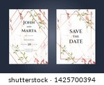 luxury marble wedding... | Shutterstock .eps vector #1425700394