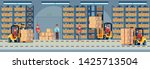 warehouse interior. industrial...   Shutterstock .eps vector #1425713504