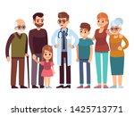 family doctor. big happy health ... | Shutterstock .eps vector #1425713771