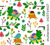 white seamless pattern with... | Shutterstock .eps vector #1425714527
