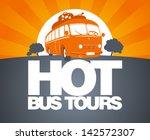 Hot Bus Tours Design Template...