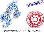 cog vector scandinavia map... | Shutterstock .eps vector #1425749291