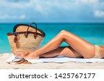 Suntan Beach Vacation Woman...