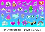 big set of vaporwave styled... | Shutterstock .eps vector #1425767327