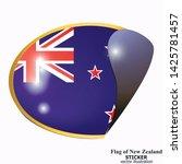 made in new zealand sticker.... | Shutterstock .eps vector #1425781457