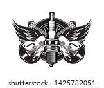 vector monochrome illustration... | Shutterstock .eps vector #1425782051