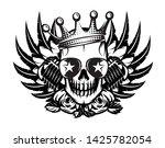 vector monochrome illustration... | Shutterstock .eps vector #1425782054