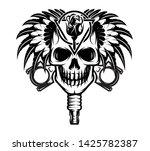 vector monochrome illustration... | Shutterstock .eps vector #1425782387